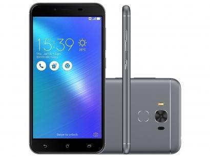 Smartphone Asus ZenFone 3 Max 32GB Cinza - Dual Chip 4G Câm. 16MP + Selfie 8MP...