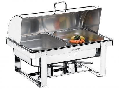 Chafing Dish 2 Fogareiros 5 Peças Brinox Savoy - 1099/202