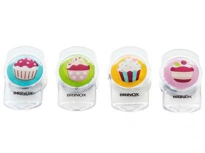 Clipes Magnéticos 4 Peças - Cupcakes