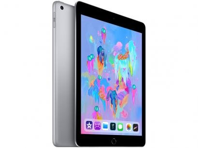 "iPad Apple 32GB Cinza Espacial Tela 9,7"" Retina - Proc. Chip A9 Câm. 8MP +..."