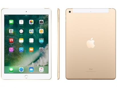 "iPad Apple 4G 32GB Dourado Tela 9,7"" Retina Proc. - Chip A9 Câm. 8MP + Frontal..."