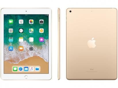 iPad Apple 128GB Dourado Tela 9,7 Retina - Proc. Chip A9 Câm. 8MP + Frontal...