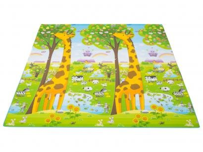 Tapete de Atividade Infantil Girafa ABC 200x180cm - Dupla Face Ibimboo
