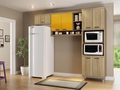 Cozinha Compacta Multimóveis Sicília - Nicho para Forno e Microondas 7 Portas