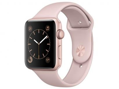 Apple Watch Series 1 42mm Alumínio - Areia Rosa GPS Integrado