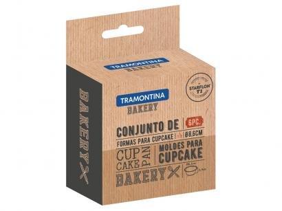 Jogo de Formas para Cupcake 6 Peças Antiaderente - Tramontina Bakery 27899/060