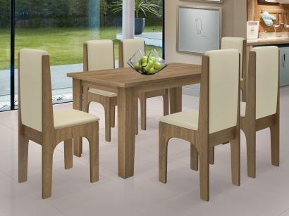 Conjunto de Mesa com 6 Cadeiras - Dobuê Movelaria Miami