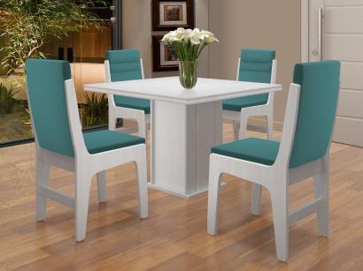 Conjunto de Mesa com 4 Cadeiras - Dobuê Movelaria Amsterdam