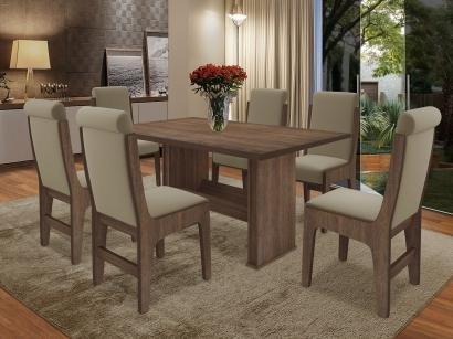 Conjunto de Mesa com 6 Cadeiras - Dobuê Movelaria Montreal