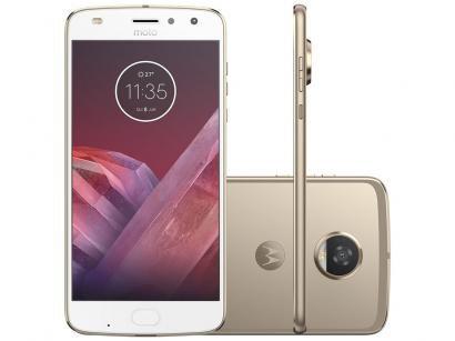 Smartphone Motorola Moto Z2 Play 64GB Ouro - Dual Chip 4G Câm. 12MP + Selfie...
