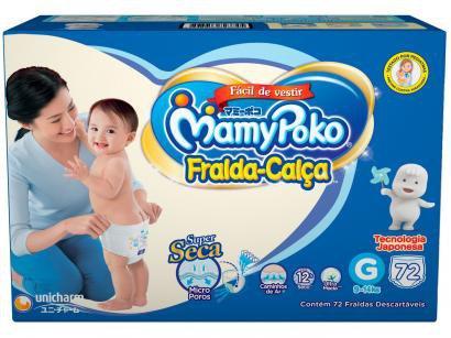 Fralda MamyPoko Calça Tam. G - 9 a 14kg 72 Unidades
