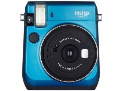 Câmera Instantânea Fujifilm Instax Mini 70 - Azul Flash Automático