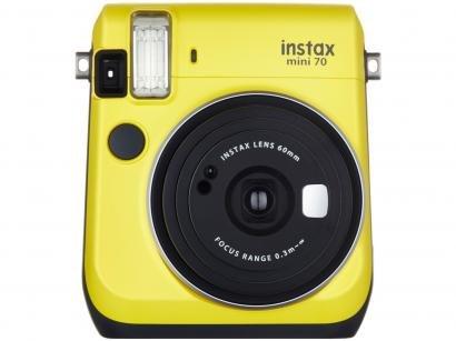 Câmera Instantânea Fujifilm Instax Mini 70 - Amarelo Flash Automático