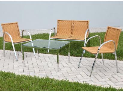 Conjunto de Mesa para Jardim com 3 Cadeiras - Alegro Móveis CJMC112319.0001