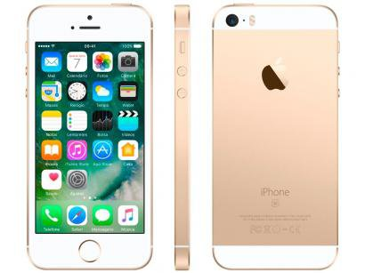 "iPhone SE Apple 128GB Dourado 4G Tela 4"" - Retina Câm. 12MP iOS 10 Proc. Chip..."