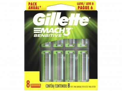 Carga Gillette Mach3 Sensitive - 8 Unidades