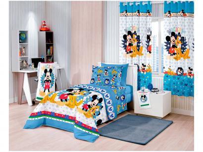 e69bd319f5 Jogo de Cama Lençol Infantil Santista - Disney Light Mickey Happy 3 Peças