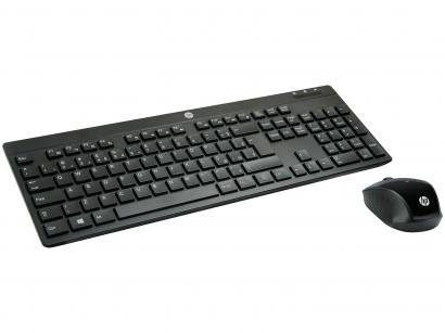 Kit Teclado e Mouse Sem Fio HP - C200
