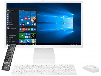 "Computador All in One LG 24V570-C.BJ31P1 - Intel Core i5 4GB 1TB LED 23,8"" IPS..."