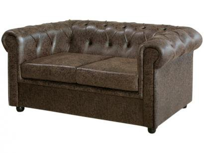 Sofá 2 Lugares Suede Chesterfield Oxford - American Comfort