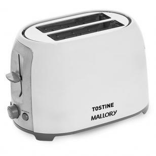 Torradeira Mallory Branca Tostine - 6 Níveis de Tostagem