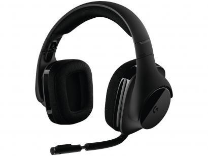 Headset Gamer Logitech G533 Wireless sem Fio USB - Preto