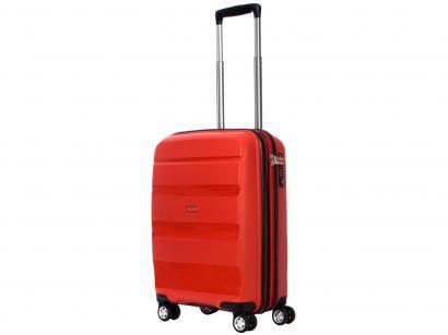 Mala de Viagem Samsonite Pequena - Expansiva Spin Air Vermelha