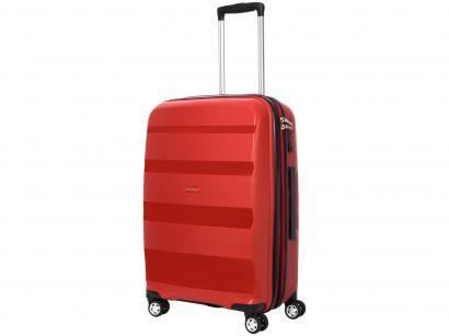 Mala de Viagem Samsonite Média - Expansiva Spin Air Vermelha