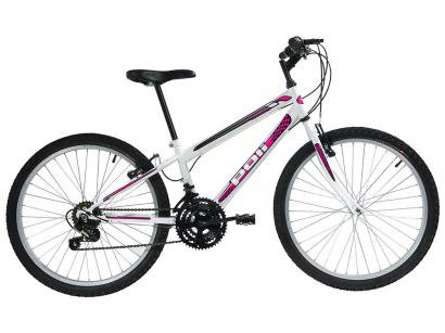 Bicicleta Polimet 7142 Aro 24 18 Marchas - Freio V-Brake
