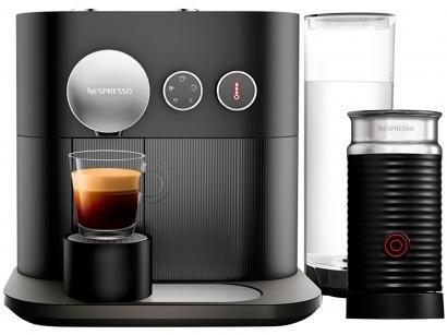 Cafeteira Expresso 19 Bar Nespresso Expert - Combo Expert Black + Aero3 Preta