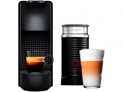 Cafeteira Expresso 19 Bar Nespresso - Combo Essenza Mini + Aero3 Preta