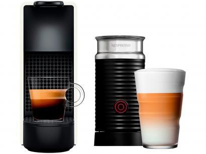 Cafeteira Expresso 19Bar Nespresso - Combo Essenza Mini Red + Aero3 Branco 14...