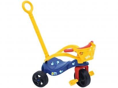 Triciclo Infantil Xalingo com Empurador - Pet Peixinho