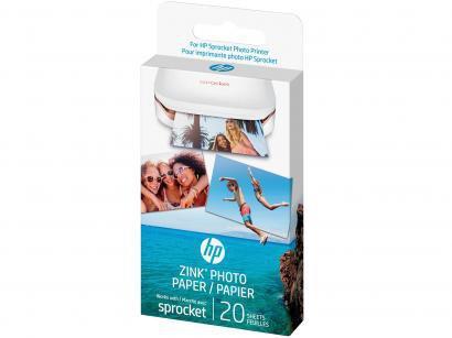 "Papel Fotográfico HP Zink"" - 20 Folhas"