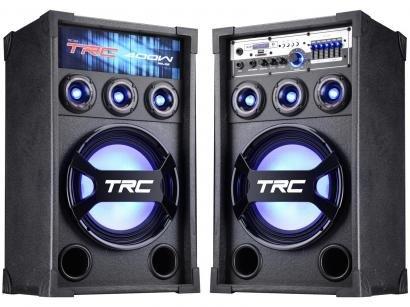 Caixa de Som Amplificadora TRC 369 400W Bluetooth - USB com Microfone