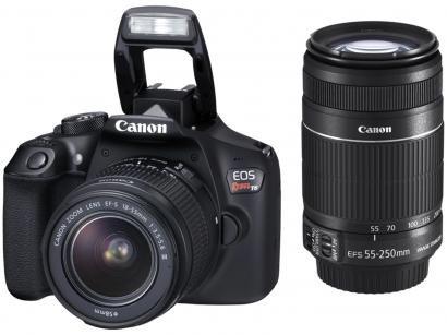 "Câmera Digital Canon EOS Rebel T6 Premium Kit - 18MP Profissional 3"" Full HD..."