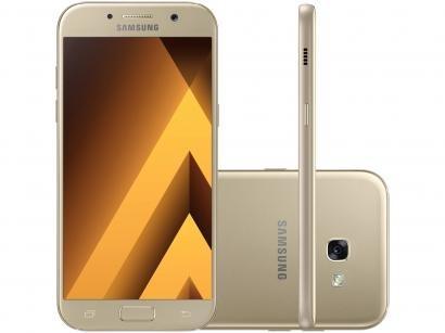 Smartphone Samsung Galaxy A5 2017 64GB Dourado - Dual Chip 4G Câm. 16MP +...