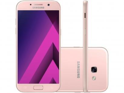 Smartphone Samsung Galaxy A5 2017 64GB Rosa - Dual Chip 4G Câm. 16MP + Selfie...