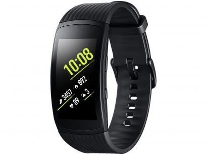 "SmartWatch Samsung Gear Fit2 Pro Pulseira Pequena - Display 1,5"" 4GB..."