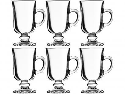 Jogo de Taças para Café Vidro 6 Peças Crisal - Mini Bill Lisa