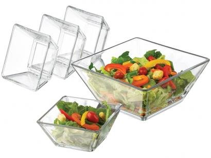 Conjunto para Salada 5 Peças Libbey - Tempo