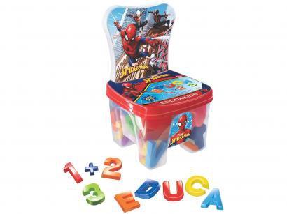Cadeira Baú Educa Kids Spiderman com Acessórios - Líder Brinquedos