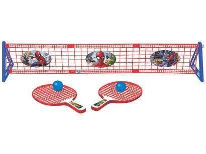 Kit Ping Pong/Tênis de Mesa Marvel Spiderman - 5 Peças Lider Brinquedos