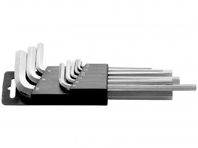 Jogo de Chave Hexagonal Longa 9 Peças 1.5 a 10mm - Tramontina Master