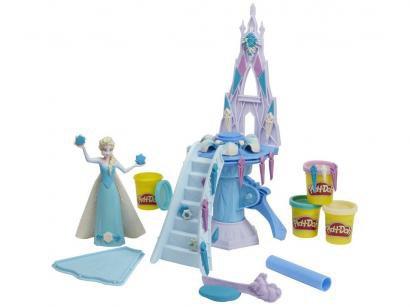 Massinha Play-Doh Disney Frozen - Palácio de Gelo da Elsa Hasbro com Acessórios