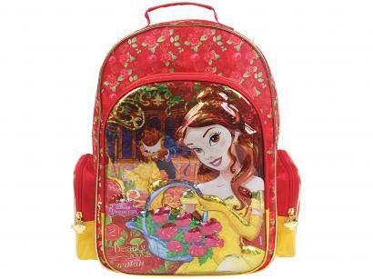 Mochila Infantil Escolar Tam. G Dermiwil - Disney A Bela e a Fera