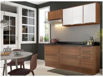Cozinha Compacta Multimóveis Calábria com Balcão - 7 Portas 4 Gavetas