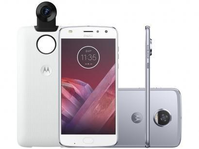 "Smartphone Motorola Moto Z2 Play 64GB Azul Topázio - 4G 4GB RAM Tela 5,5"" Câm...."