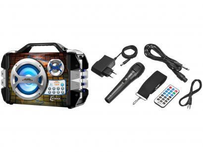 Caixa de Som Amplificadora Lenoxx CA 325 100W - Bluetooth USB com Microfone MP3...