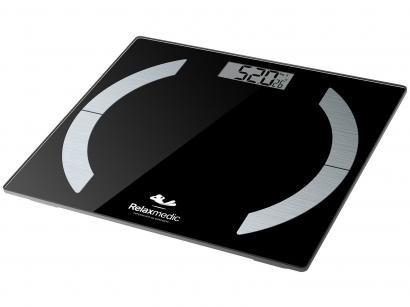 Balança Digital até 180kg com Medidor de Gordura - Relaxmedic Elegance App
